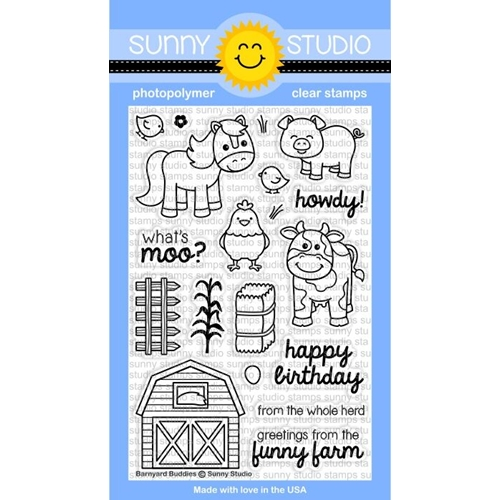 Sunny Studio BARNYARD BUDDIES Clear Stamp Set SSCL-169 Preview Image