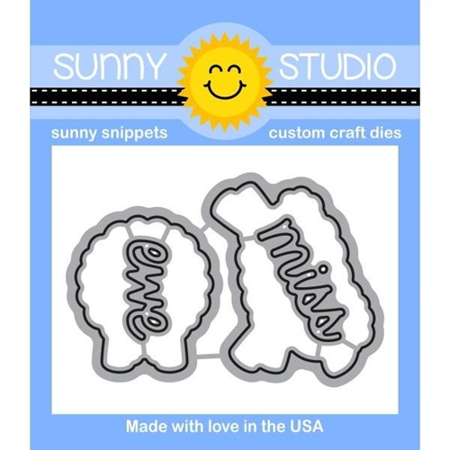 Sunny Studio MISSING EWE Snippets Die SunnySS-065 Preview Image