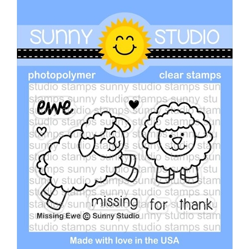 Sunny Studio MISSING EWE Clear Stamp Set SSCL 168 Preview Image