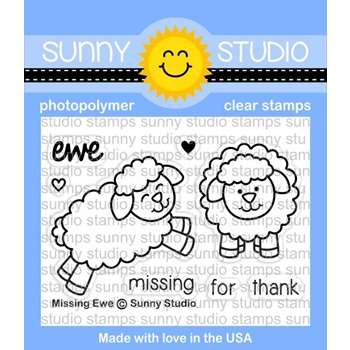 Sunny Studio MISSING EWE Clear Stamp Set SSCL 168