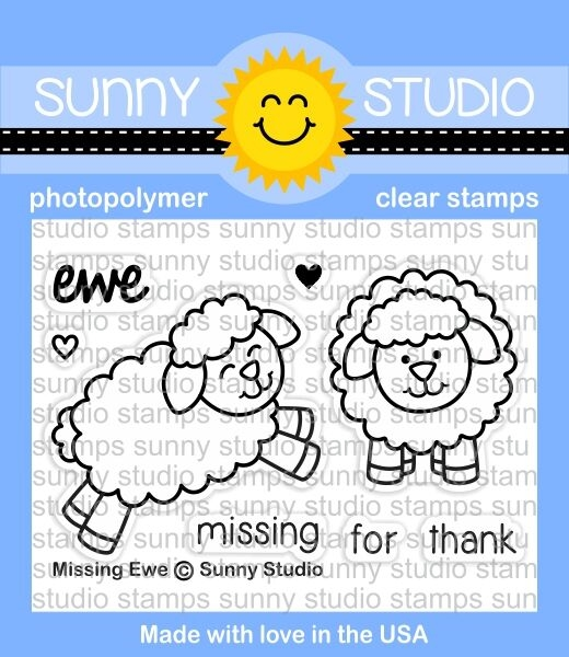 Sunny Studio MISSING EWE Clear Stamp Set SSCL 168 zoom image