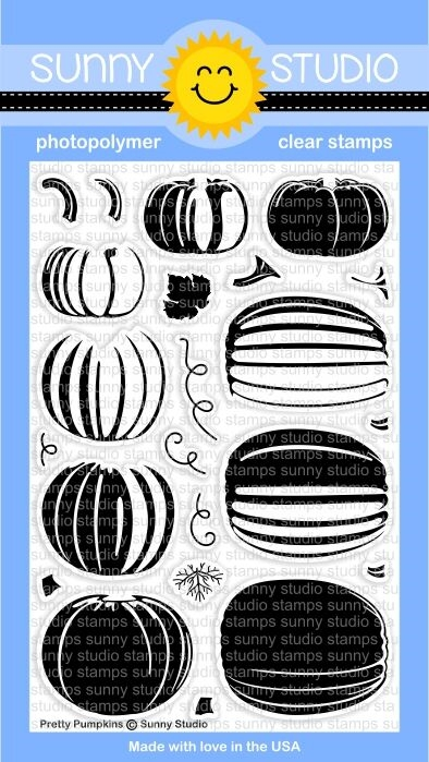 Sunny Studio PRETTY PUMPKINS Clear Stamp Set SSCL 166 zoom image