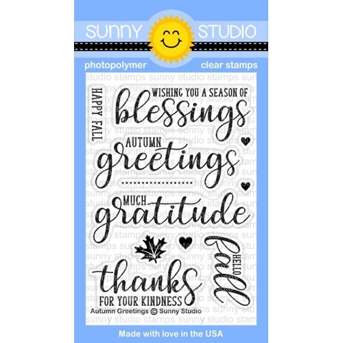 Sunny Studio AUTUMN GREETINGS Clear Stamp Set SSCL-167 Preview Image