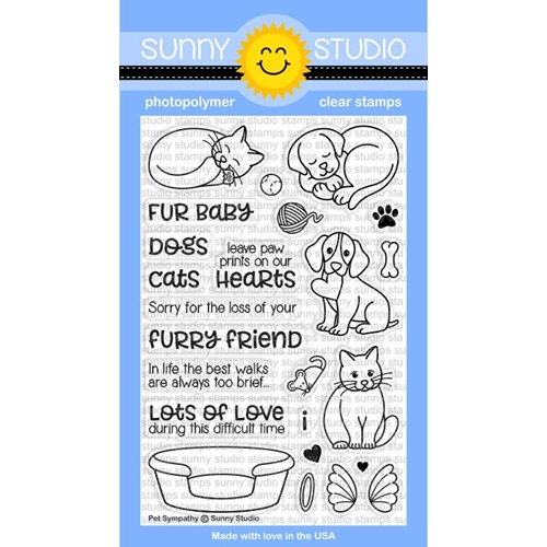Sunny Studio PET SYMPATHY Clear Stamp Set SSCL 170 Preview Image