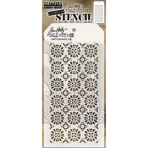 Tim Holtz Layering Stencil ROSETTE THS092 Preview Image