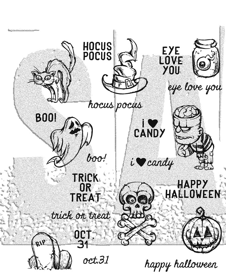Tim Holtz Cling Rubber Stamps SCARED SILLY CMS311 zoom image