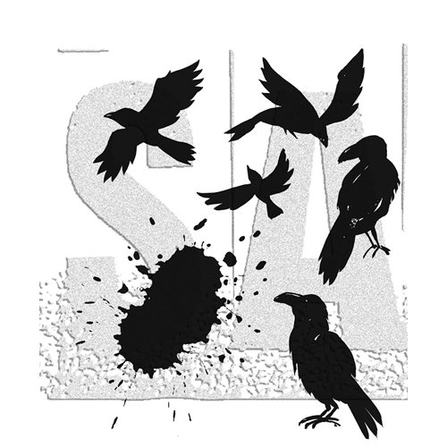 Tim Holtz Cling Rubber Stamps RAVENS CMS310* Preview Image
