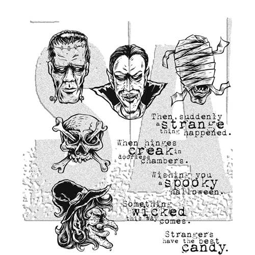 Tim Holtz Cling Rubber Stamps MONSTROUS CMS307 Preview Image