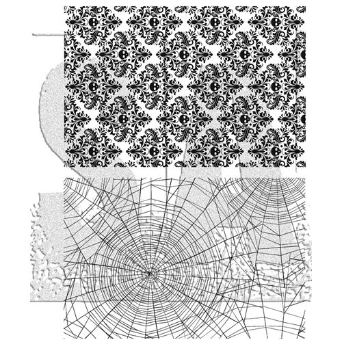Tim Holtz Cling Rubber Stamps SKULLS AND COBWEBS CMS306 Preview Image