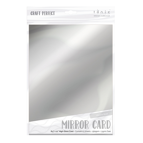 Tonic CHROME SILVER Mirror Card Gloss Cardstock 9452E Preview Image