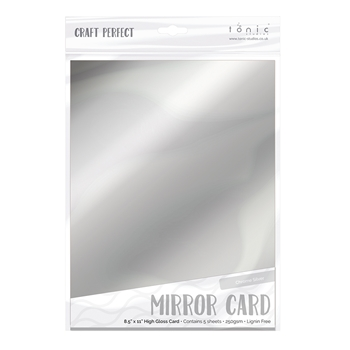 Craft Perfect Satin Mirror Card A4 Black Velvet
