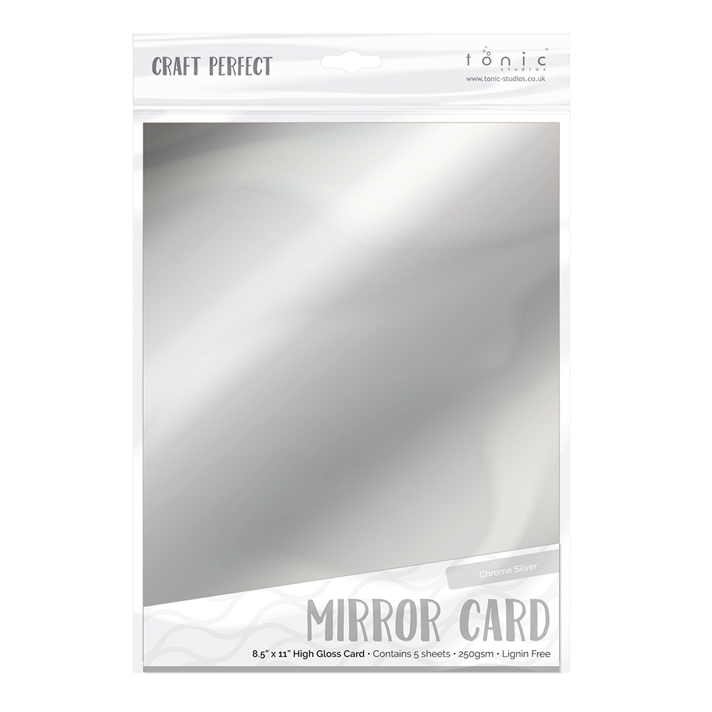 Tonic CHROME SILVER Mirror Card Gloss Cardstock 9452E zoom image