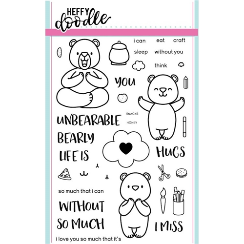 Heffy Doodle UNBEARABLE WITHOUT YOU  Clear Stamps HFD0003* Preview Image