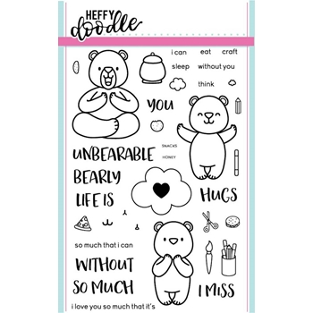 Heffy Doodle UNBEARABLE WITHOUT YOU  Clear Stamps HFD0003*