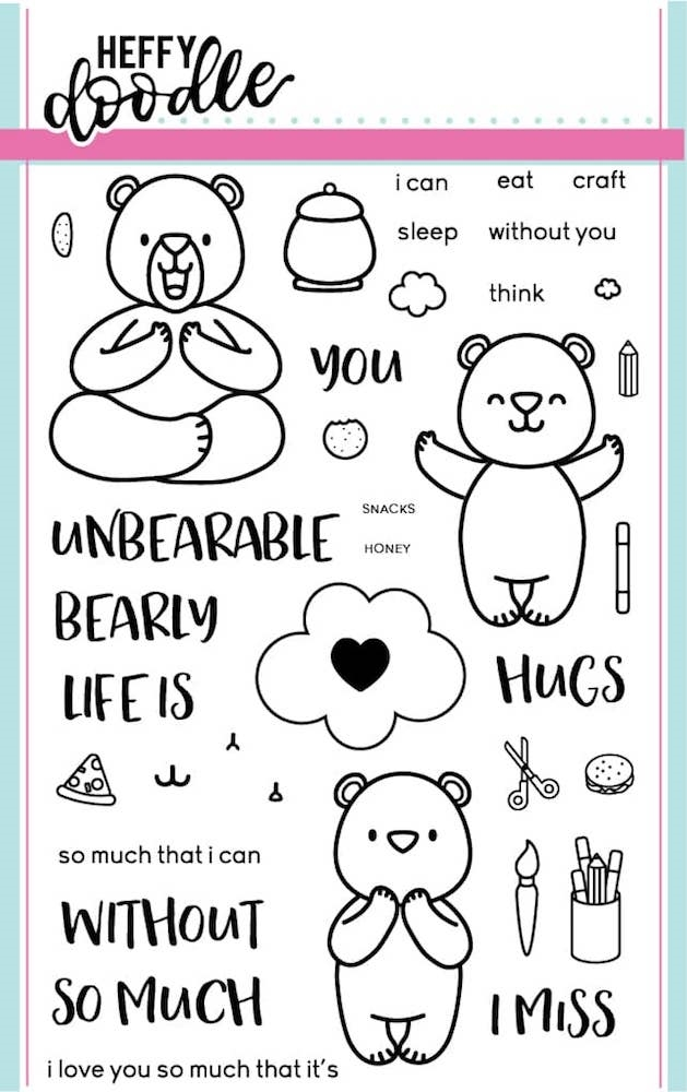 Heffy Doodle UNBEARABLE WITHOUT YOU  Clear Stamps HFD0003* zoom image