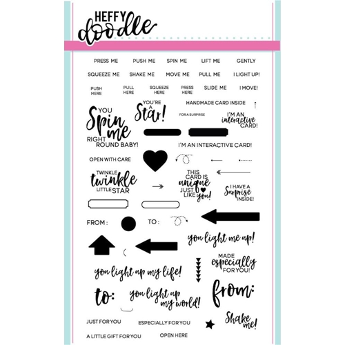 Heffy Doodle INTERACTIVELY YOURS Clear Stamps HFD0009 Preview Image