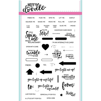 Heffy Doodle INTERACTIVELY YOURS Clear Stamps HFD0009