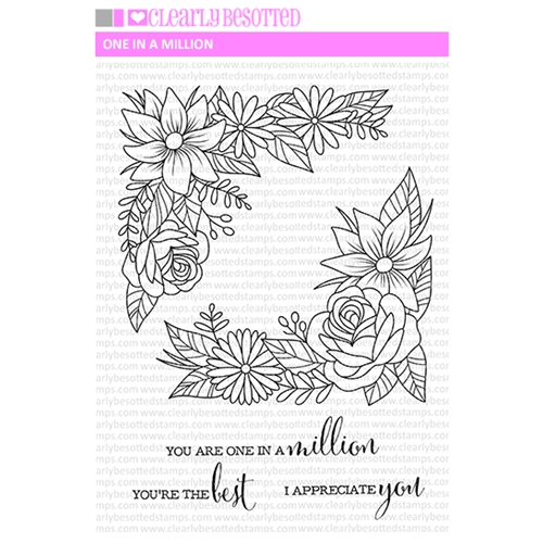 Clearly Besotted ONE IN A MILLION Clear Stamp Set Preview Image
