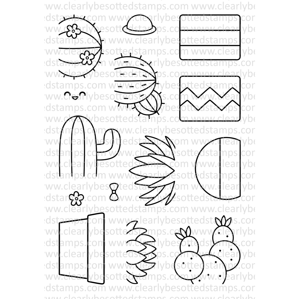 Clearly Besotted SIMPLY SUCCULENT Clear Stamp Set zoom image