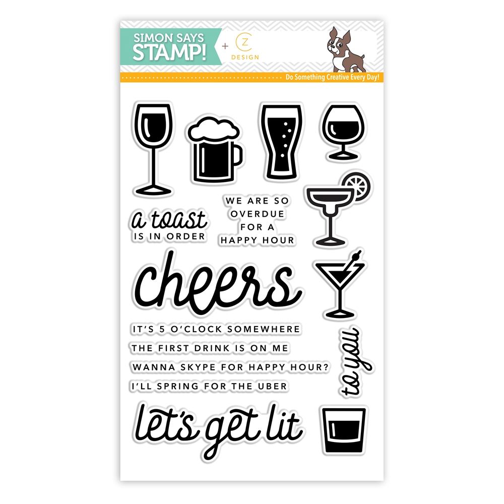 CZ Design Clear Stamps HAPPY HOUR CZ07 zoom image