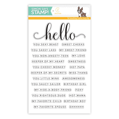 CZ Design Clear Stamps HELLO YOU CZ08 Preview Image