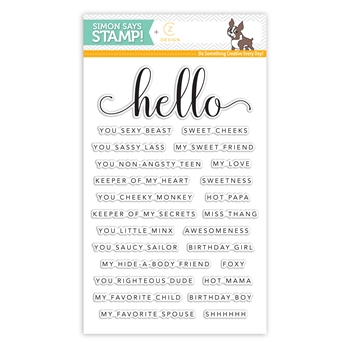CZ Design Clear Stamps HELLO YOU CZ08
