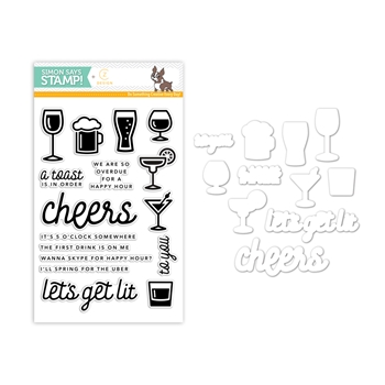 CZ Design Stamps and Dies HAPPY HOUR CZSET1