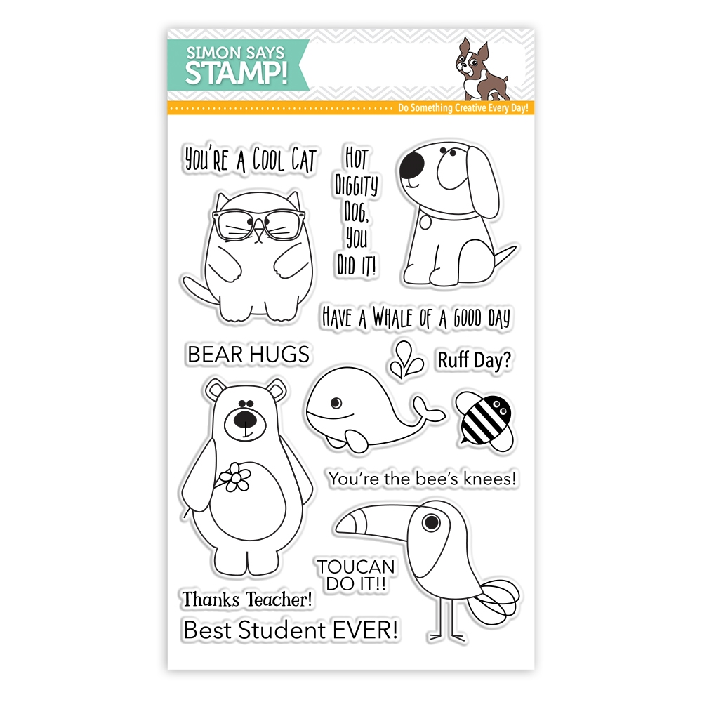 Simon Says Clear Stamps ENCOURAGING ANIMALS SSS101747 Encouraging Words * zoom image