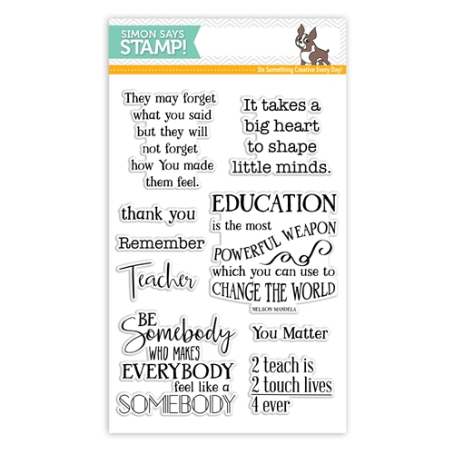 Simon Says Clear Stamps THANK YOU TEACHER SSS101749 Encouraging Words Preview Image
