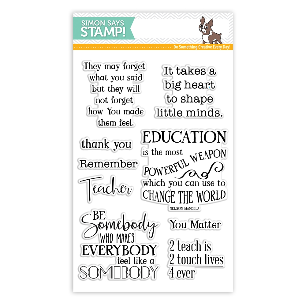 Simon Says Clear Stamps THANK YOU TEACHER SSS101749 Encouraging Words zoom image