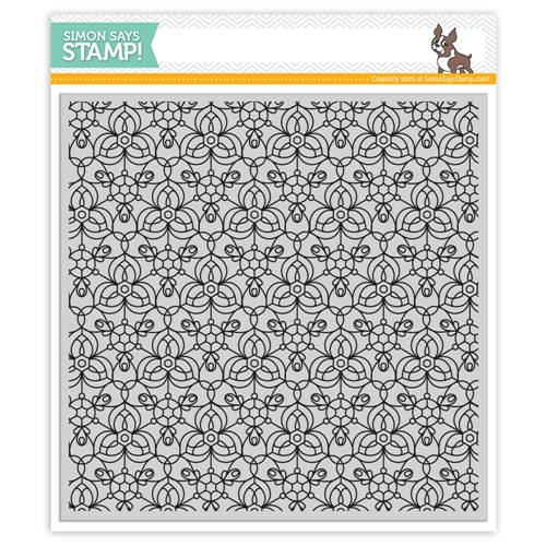 Simon Says Cling Rubber Stamp KALEIDOSCOPE BACKGROUND SSS101759 Encouraging Words Preview Image
