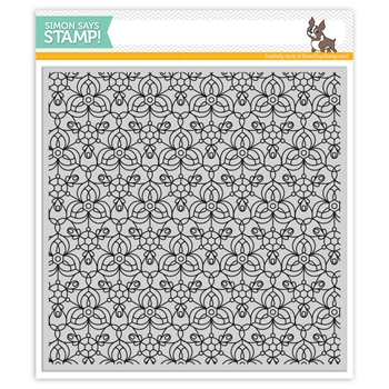 Simon Says Cling Rubber Stamp KALEIDOSCOPE BACKGROUND SSS101759 Encouraging Words *