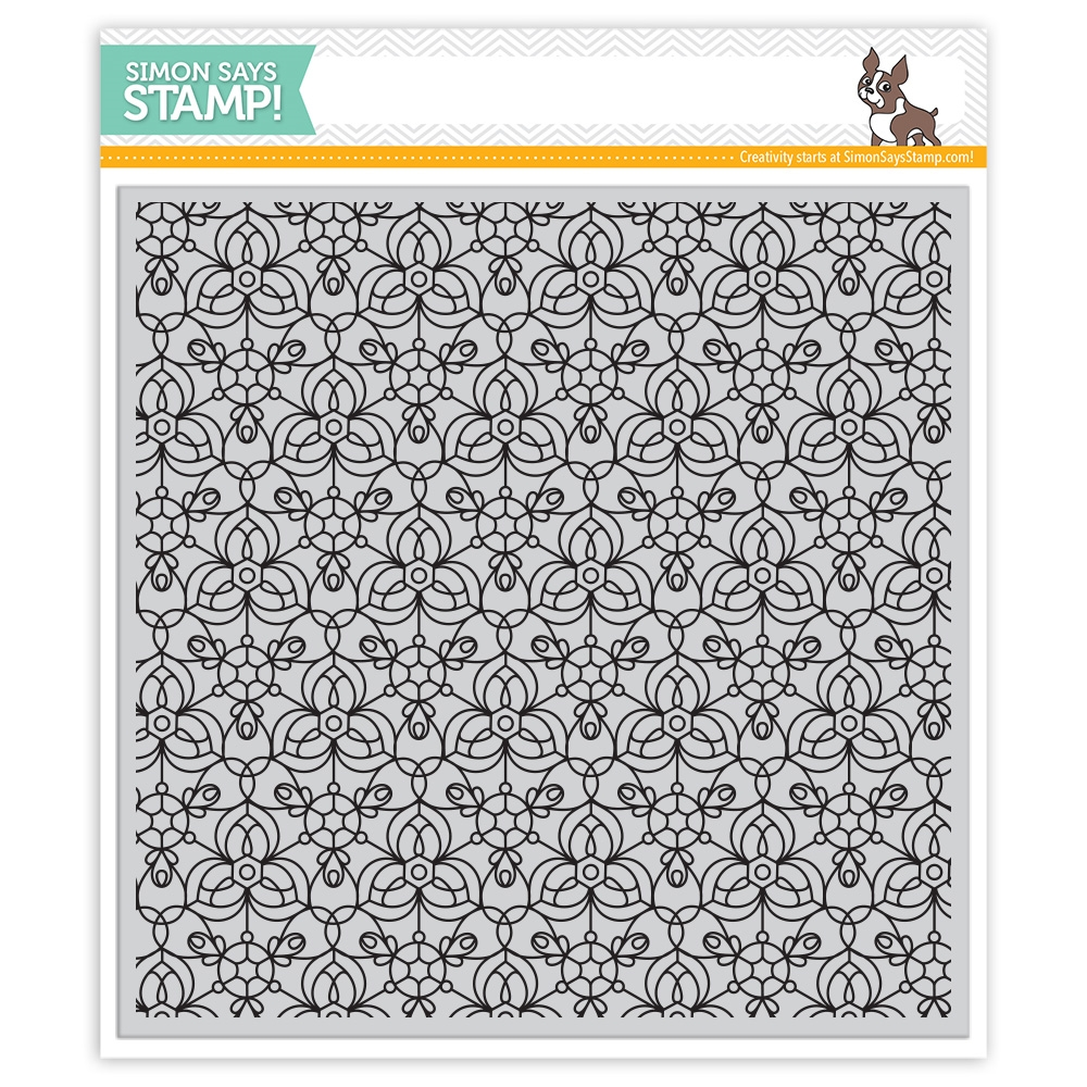 Simon Says Cling Rubber Stamp KALEIDOSCOPE BACKGROUND SSS101759 Encouraging Words zoom image