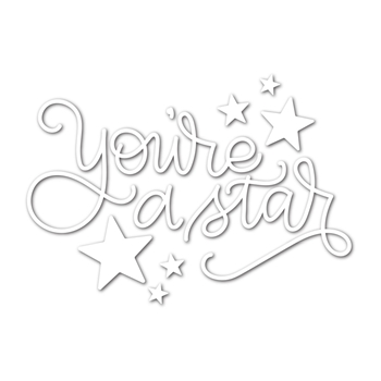 Simon Says Stamp YOU'RE A STAR Wafer Dies SSSD111727 Encouraging Words
