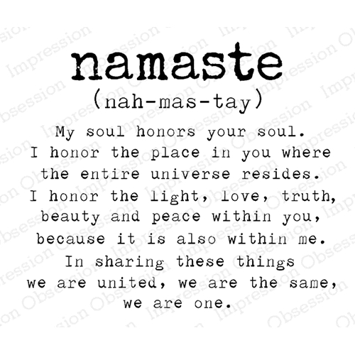 Impression Obsession Cling Stamp NAMASTE G17205 Preview Image
