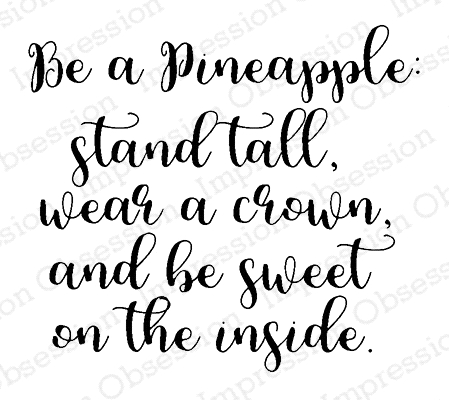 Impression Obsession Cling Stamp BE A PINEAPPLE E17217 Preview Image