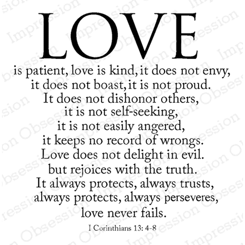 Impression Obsession Cling Stamp LOVE IS F17222 Preview Image