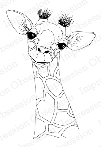 Impression Obsession Cling Stamp BABY GIRAFFE E13591 zoom image