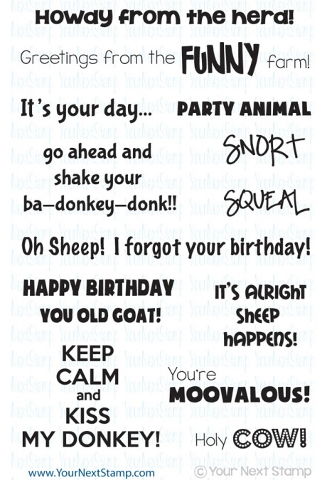 Your Next Stamp FUNNY FARM ANIMAL SENTIMENTS Clear CYNS007 zoom image