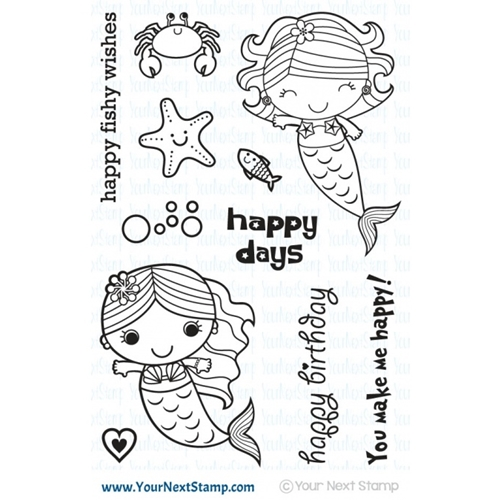 Your Next Stamp HAPPY DAYS MERMAIDS Clear CYNS428* Preview Image