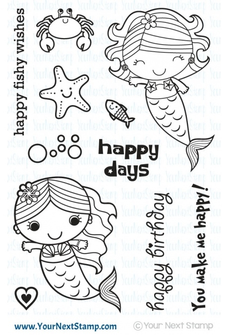 Your Next Stamp HAPPY DAYS MERMAIDS Clear CYNS428* zoom image