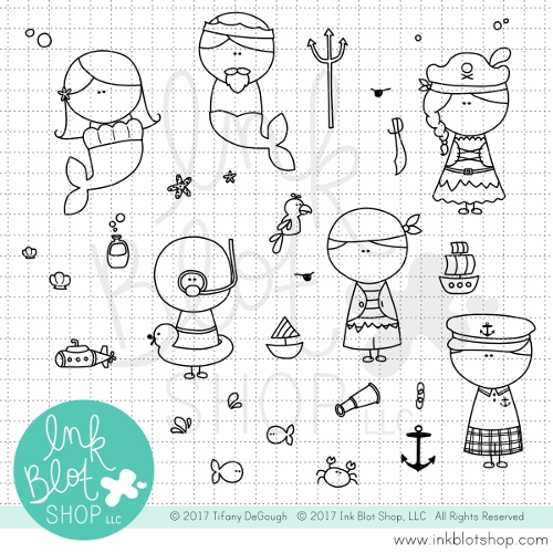 Ink Blot Shop Clear Stamp Set AHOY INBL017* zoom image