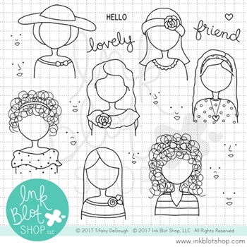 Ink Blot Shop Clear Stamp Set HELLO LOVELY INBL022