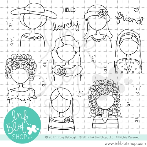 Ink Blot Shop Clear Stamp Set HELLO LOVELY INBL022 zoom image