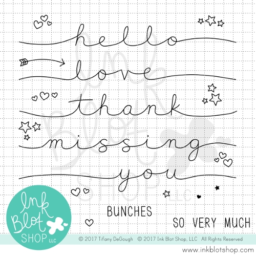 Ink Blot Shop Clear Stamp Set STRETCHED SENTIMENTS INBL024 zoom image