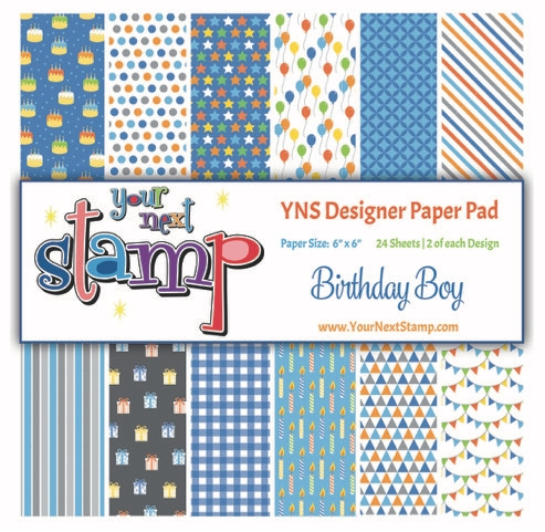 Your Next Stamp BIRTHDAY BOY 6X6 Paper Pack YNSPP015 zoom image