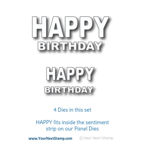 Your Next Die BOLD HAPPY BIRTHDAY WORD YNSD658 Preview Image