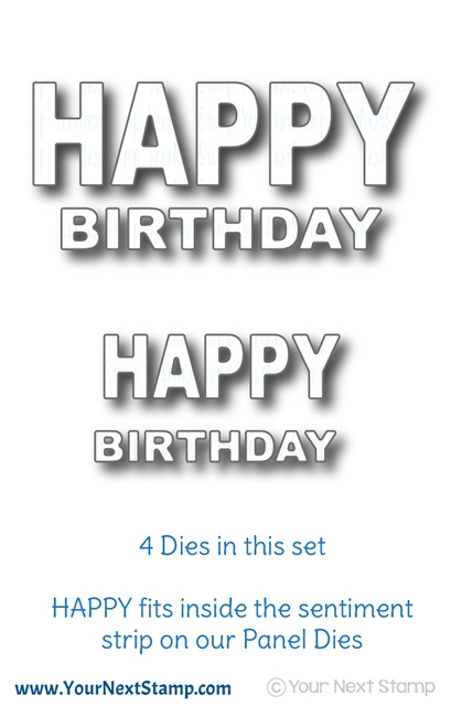 Your Next Die BOLD HAPPY BIRTHDAY WORD YNSD658 zoom image