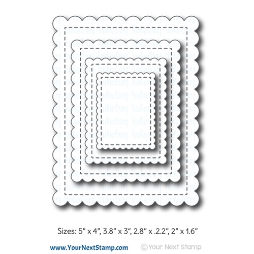 Your Next Die STITCHED SCALLOP RECTANGLES YNSD659 Preview Image