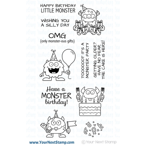 Your Next Stamp SILLY BIRTHDAY MONSTERS Clear CYNS585 Preview Image